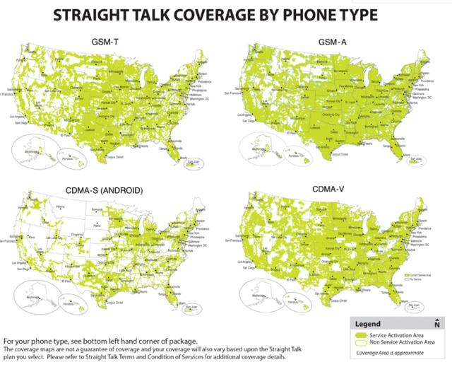 comparison of various straight talk networks