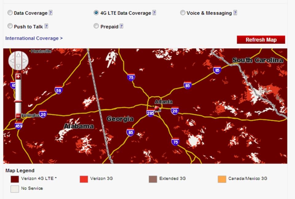 Verizon Atlanta coverage