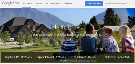 google fiber provo
