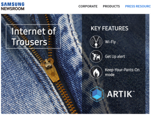 samsung internet of trousers